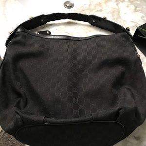 Gucci Black Hobo Handbag with wallet